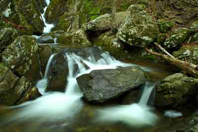 Water in nature is very soothing.