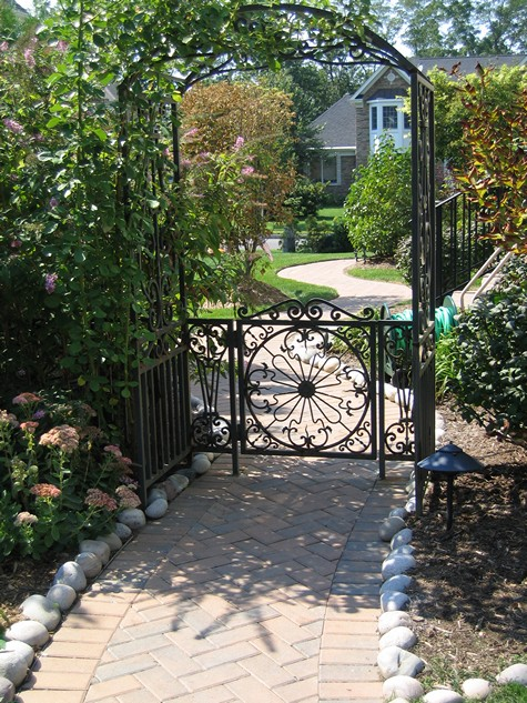 Garden arbors are charming for backyard entrances.