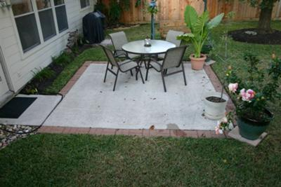 Concrete And Brick Patio