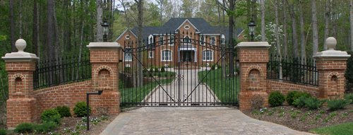 Driveway entrance gates are often aluminum.