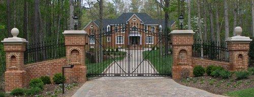 Driveway entrance gates are often aluminum.