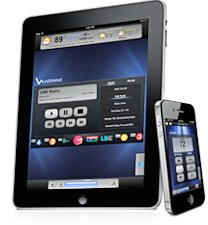 Control audio with ipad and ipod.