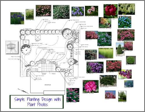 Landscape Design Drawings With Plant Pictures. online drawing AutoCa - Online Landscape Design Services Designer