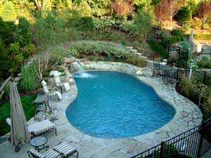 stone pool paving