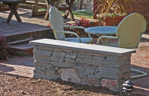 Creating A Patio Seat Wall