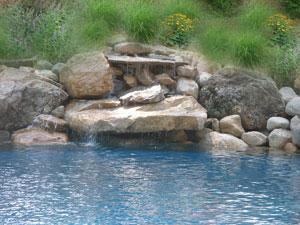 waterfall design should look natural