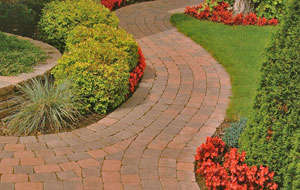 Techo-Bloc makes beautiful tumbled pavers for walkways and patios.