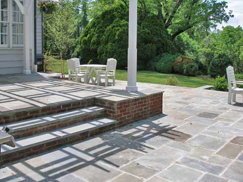 Attractive Cost Of Bluestone Patio With Seat Wall And Landing · Cost ...
